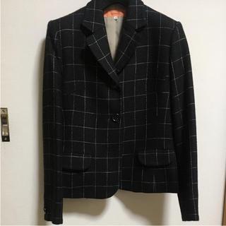 スーナウーナ(SunaUna)のSunaUna 黒 ウールジャケット(テーラードジャケット)