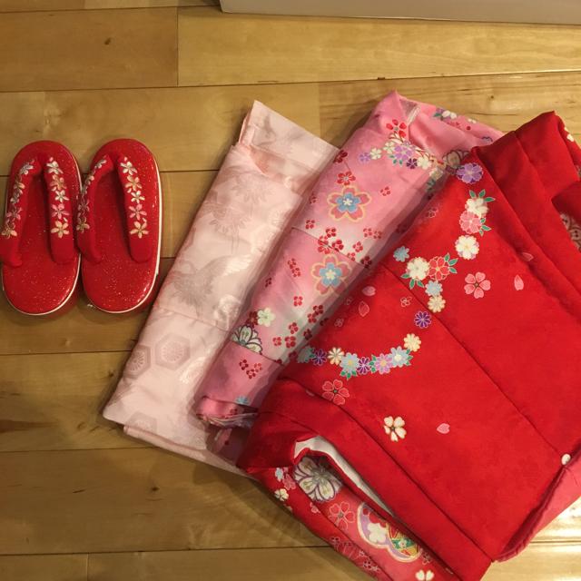 被布セット  3歳用 女の子 キッズ/ベビー/マタニティのキッズ服 女の子用(90cm~)(和服/着物)の商品写真