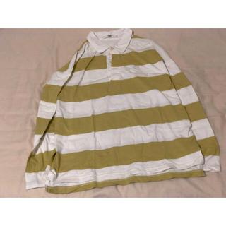 アナザーエディション(ANOTHER EDITION)のポロシャツ ボーダー ラガーマンシャツ  オーバーサイズ(ポロシャツ)