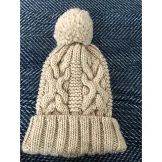 トゥモローランド(TOMORROWLAND)のトゥモローランド1回着用美品、ニット帽送料無料(ニット帽/ビーニー)
