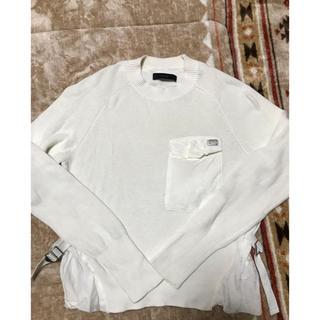 ディーゼル(DIESEL)のya_chi_様専用★ DIESEL☆彡.白デザインセーター☆USED(ニット/セーター)