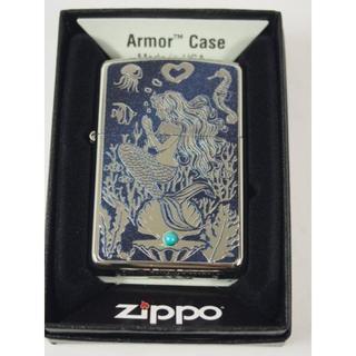 ジッポー(ZIPPO)のZippo アーマー・マーメイド Mermaid 彫刻&青石(タバコグッズ)