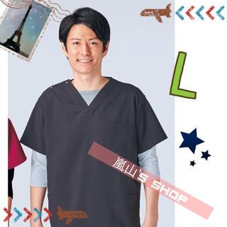 カゼン(KAZEN)のコードブルー スクラブ ブラック Lサイズ kazen(Tシャツ/カットソー(半袖/袖なし))