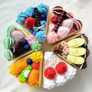 ☆☆hanahana様専用☆☆フェルトおままごと☆6種類のケーキセットNo.26(その他)