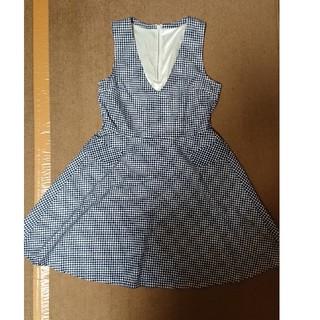 6cfa6c85e5313 ハニーズ(HONEYS)のハニーズ ギンガムチェック ジャンパースカート(ひざ丈ワンピース)