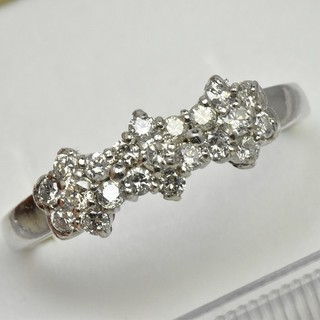 Pt850 大きいサイズ 21号 ダイヤモンドリング プラチナ  (リング(指輪))