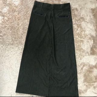 サンタモニカ(Santa Monica)のタイトスカート 古着 カーキ ロングスカート ヴィンテージ ビンテージ(ロングスカート)
