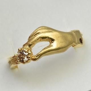 専用です K18 ゴールド 0.10ct ダイヤモンドリング 16号 指輪  (リング(指輪))