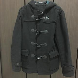 ジーユー(GU)のGU ダッフルコート メンズSサイズ 黒(ダッフルコート)