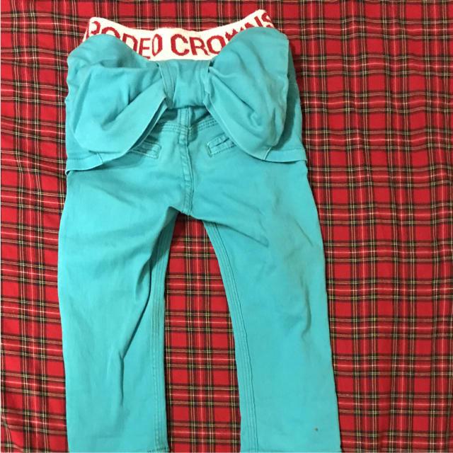 RODEO CROWNS WIDE BOWL(ロデオクラウンズワイドボウル)のロデオクラウンズ☆リボンパンツ キッズ/ベビー/マタニティのキッズ服 女の子用(90cm~)(パンツ/スパッツ)の商品写真