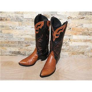 トニーラマ(Tony Lama)のSPECIAL リザード革 トニーラマ ウエスタンブーツ 茶黒 2424,5cm(ブーツ)