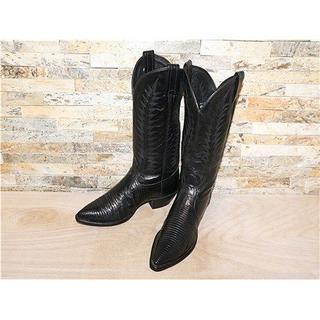 トニーラマ(Tony Lama)のSPECIAL リザード革 トニーラマ ウエスタンブーツ 黒 2525,5cm(ブーツ)