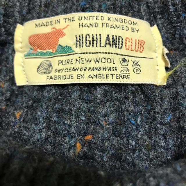 Hiland Club(ハイランドクラブ)の☆ イギリス製 ハイランドクラブ リブ ネップ ニット  ☆ メンズのトップス(ニット/セーター)の商品写真