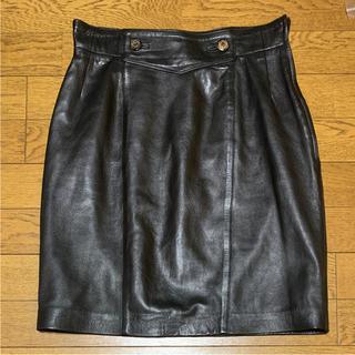 ロエベ(LOEWE)のロエベ レザースカート(ひざ丈スカート)