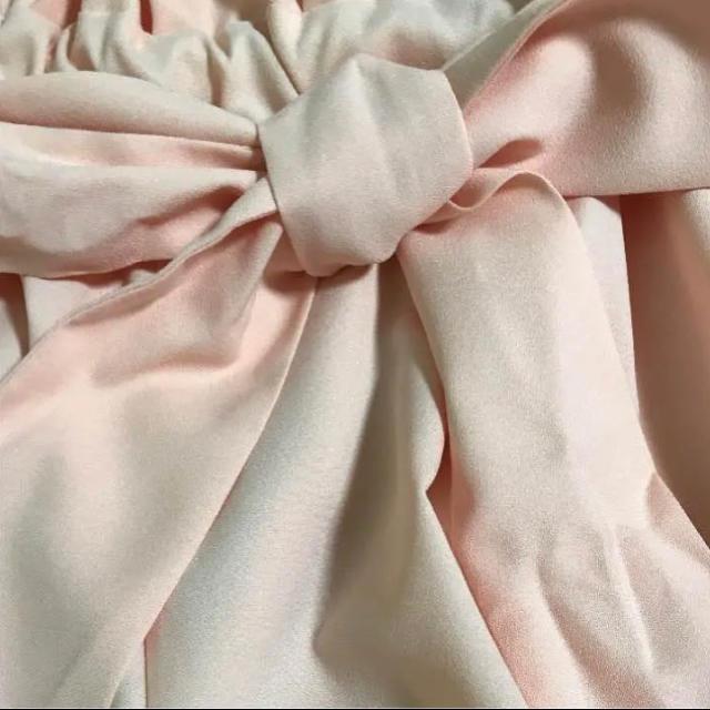 ByeBye(バイバイ)のbye bye ガウチョ パンツ ピンク バイバイ  リボン ロング スカート レディースのパンツ(その他)の商品写真