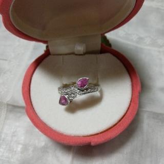 ジュエリーツツミ(JEWELRY TSUTSUMI)のダイヤモンド&ピンクトルマリン✨💍✨リング(リング(指輪))