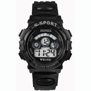 **SALE**   生活防水 多機能 デジタルスポーツウォッチ ☆ ブラック(腕時計)