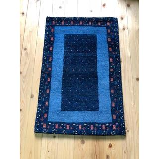 いつうさ様専用ウールギャべ 手織り 60×90cm 玄関マットサイズ 新品未使用(玄関マット)