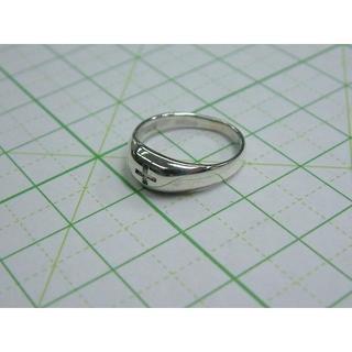 2 号サイズ シルバーリング クロス 十字架 ピンキー SILVER シンプル(リング(指輪))
