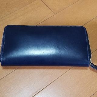 コルボ(Corbo)のコルボ ブライドルレザー長財布(ネイビー)(長財布)
