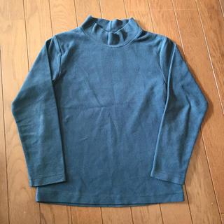 ジーユー(GU)のフリース ハイネック カットソー 130 紺(Tシャツ/カットソー)