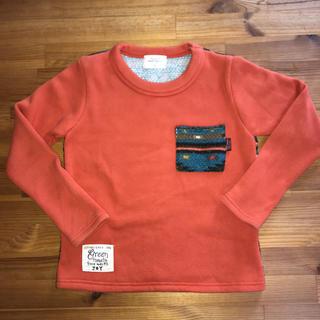 グリーントマト(GREEN TOMATO)の裏起毛Tシャツ130(Tシャツ/カットソー)