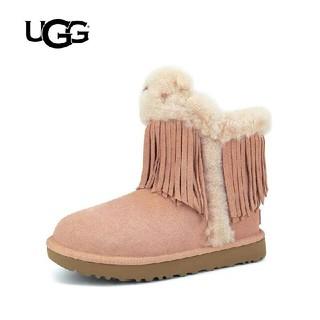 アグ(UGG)の2018冬のシリーズ レディース 可愛い「UGG アグ」ショートムートンブーツ (ブーツ)