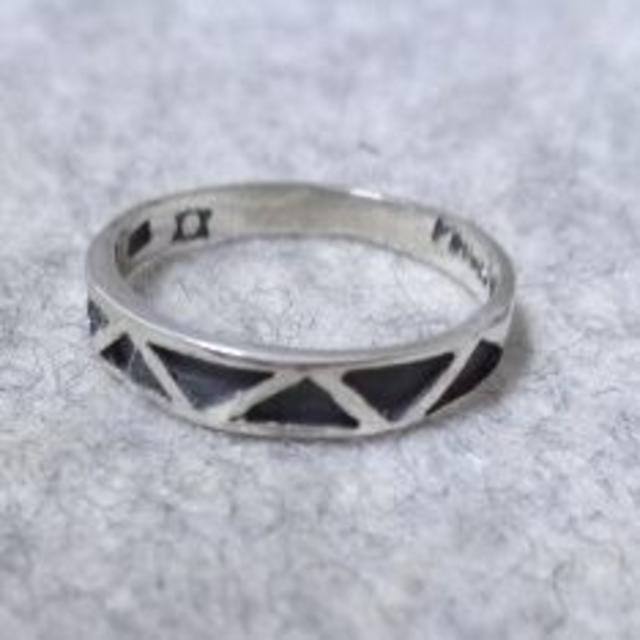 Y1833 SILVER925 ネイティヴ柄ピンキーリング5号 エスニック メンズのアクセサリー(リング(指輪))の商品写真