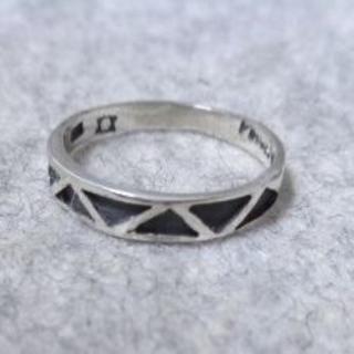 Y1833 SILVER925 ネイティヴ柄ピンキーリング5号 エスニック(リング(指輪))