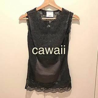 カワイイ(cawaii)のcawaii☆レースと刺繍のゴージャストップス(カットソー(半袖/袖なし))
