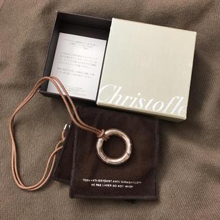 クリストフルメール(CHRISTOPHE LEMAIRE)のクリストフル 銀製品 ネックレス 付け替え用革紐新品(ネックレス)