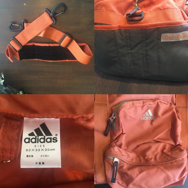 adidas(アディダス)のアディダス ボストンバッグ  オレンジ メンズのバッグ(ボストンバッグ)の商品写真