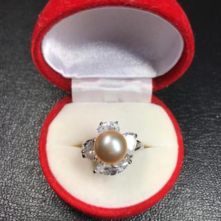 送料無料!新品 pt プラチナ 本物 真珠 リング 指輪 19号 (リング(指輪))