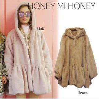 ハニーミーハニー(Honey mi Honey)のhoneymehoney💓ファーコート(毛皮/ファーコート)