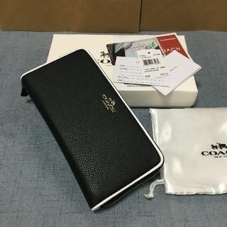 コーチ(COACH)の送料無料♪コーチ長財布 COACH・新品・未使用品 F12585 ブラック(長財布)