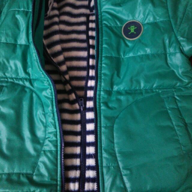 3can4on(サンカンシオン)の3way グリーンコート  100 キッズ/ベビー/マタニティのキッズ服男の子用(90cm~)(コート)の商品写真