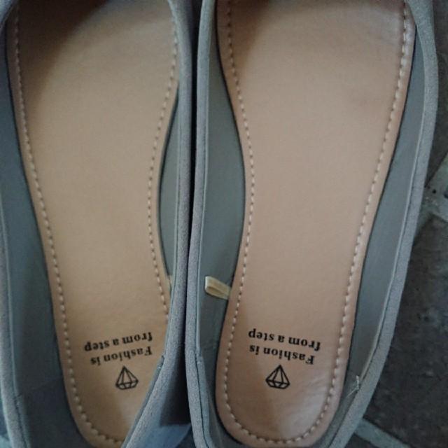 バイカラーパンプス フラット スエード レディースの靴/シューズ(ハイヒール/パンプス)の商品写真