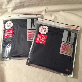 ユニクロ(UNIQLO)のXXL 2枚 ネ ヒートテック 極暖 レギンス タイツ メンズ 紳士 新品 (レギンス/スパッツ)