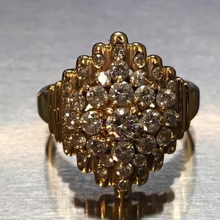 定価45万 K18YGダイヤ指輪 1.02カラット12.5号ゴールドダイヤリング(リング(指輪))