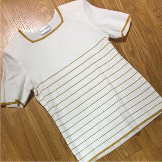 イヴサンローランボーテ(Yves Saint Laurent Beaute)のイブサンローラン ホワイト×ゴールド トップス♡(Tシャツ(半袖/袖なし))