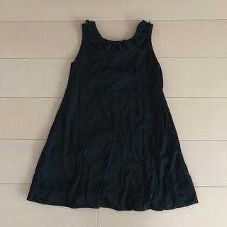 ARTISANコムサデモード♡130黒 リボン ジャンパースカート