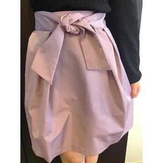 クチュールブローチ(Couture Brooch)の美品♡ウエストリボンスカート♡(ひざ丈スカート)