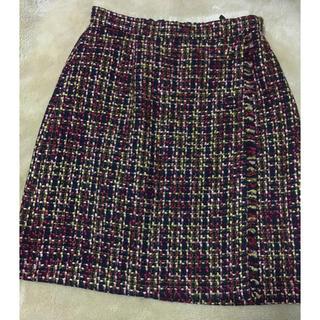 クチュールブローチ(Couture Brooch)の美品♡ツイードスカート♡(ひざ丈スカート)