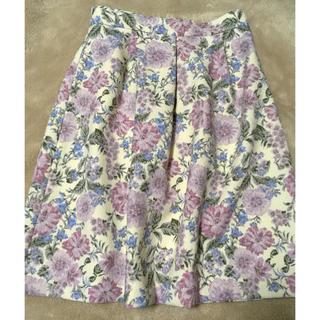 クチュールブローチ(Couture Brooch)の美品♡フラワースカート♡(ひざ丈スカート)