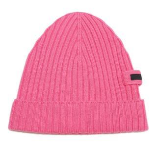 プラダ(PRADA)の新品プラダPRADAカシミア100% リヴニット帽子 ピンク(ROSA(ニット帽/ビーニー)