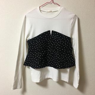 ジーユー(GU)のドット ビスチェ(Tシャツ(長袖/七分))