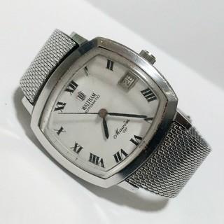 ウォルサム(Waltham)のWALTHAM Maxim VIP シルバー文字盤 SS 手巻き腕時計  (腕時計(アナログ))