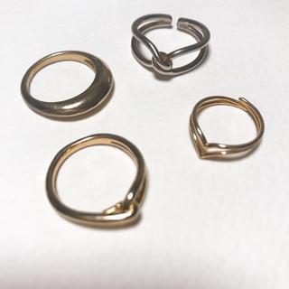 アダムエロぺ(Adam et Rope')のアダムエロペ リング 4点セット ゴールド(リング(指輪))
