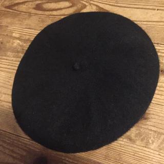 ムジルシリョウヒン(MUJI (無印良品))の無印 ベレー帽 黒(ハンチング/ベレー帽)