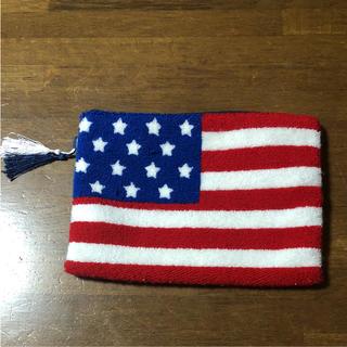 シマムラ(しまむら)の相良刺繍 星条旗 クラッチバッグ(クラッチバッグ)